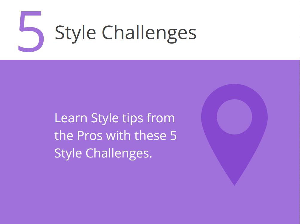 5 Style Challenges - Einführung in fünf Schritten