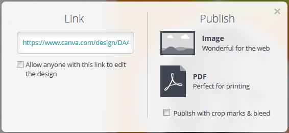 Canva exportiert als JPG oder PDF