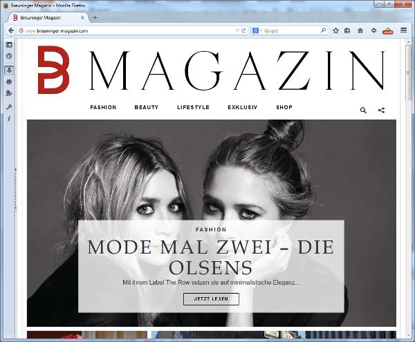 Breuninger Magazin Screenshot