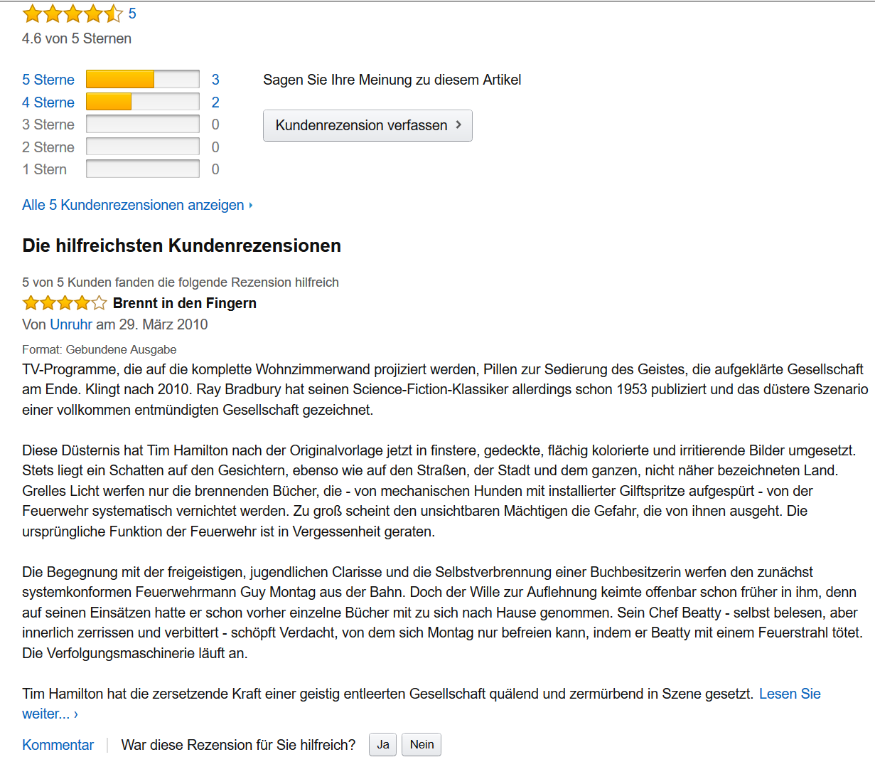 amazon Bewertung Drill Down